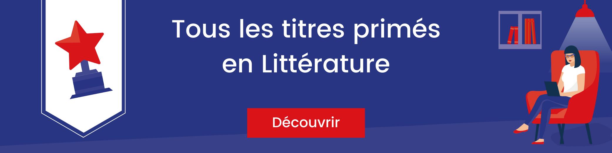 Bannière titres primés en littérature
