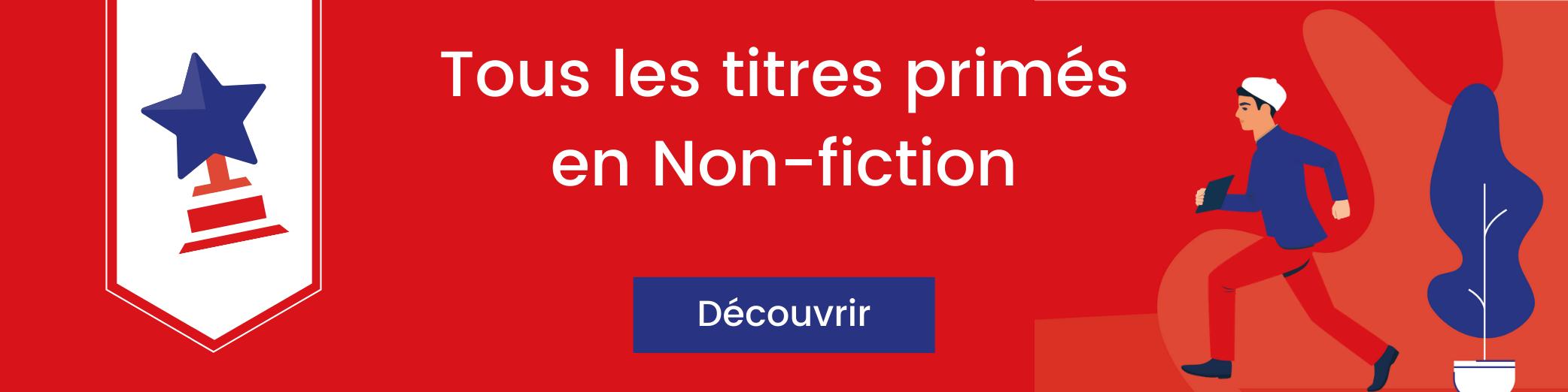 Bannière titres primés en non-fiction