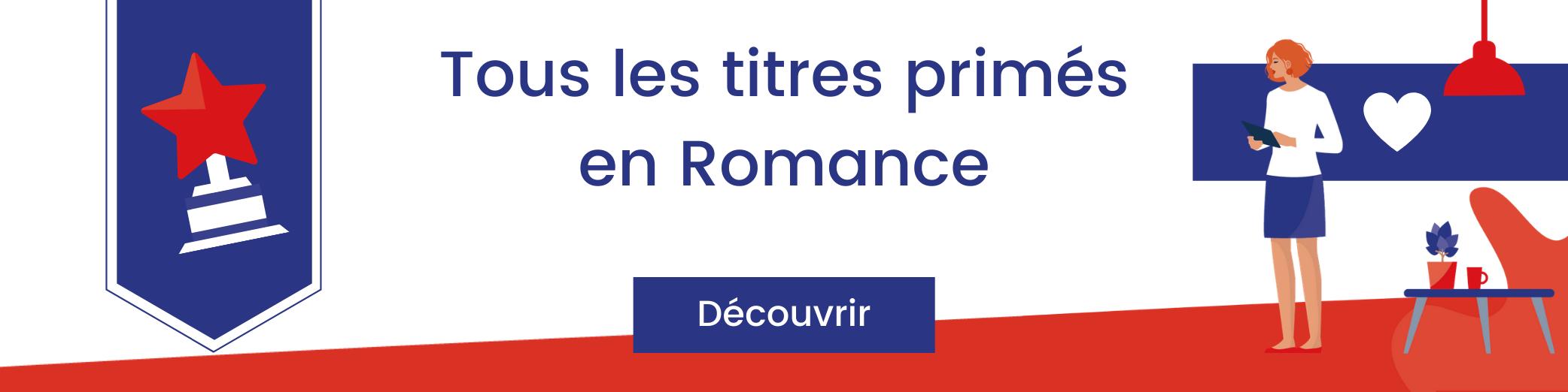 Bannière titres primés en romance