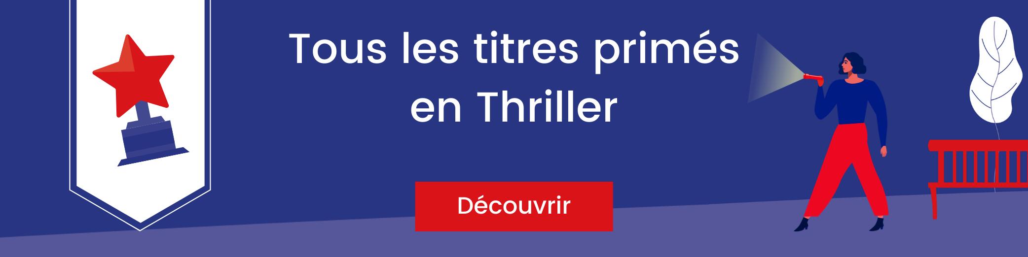 Bannière titres primés en thriller