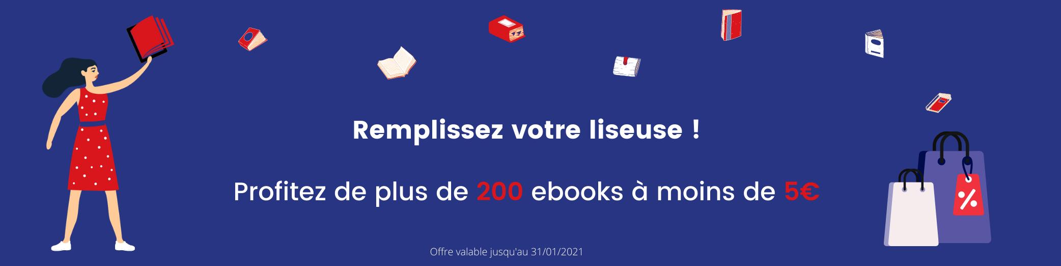 Petits prix : remplissez votre liseuse avec 200 ebooks en promotion à moins de 5€