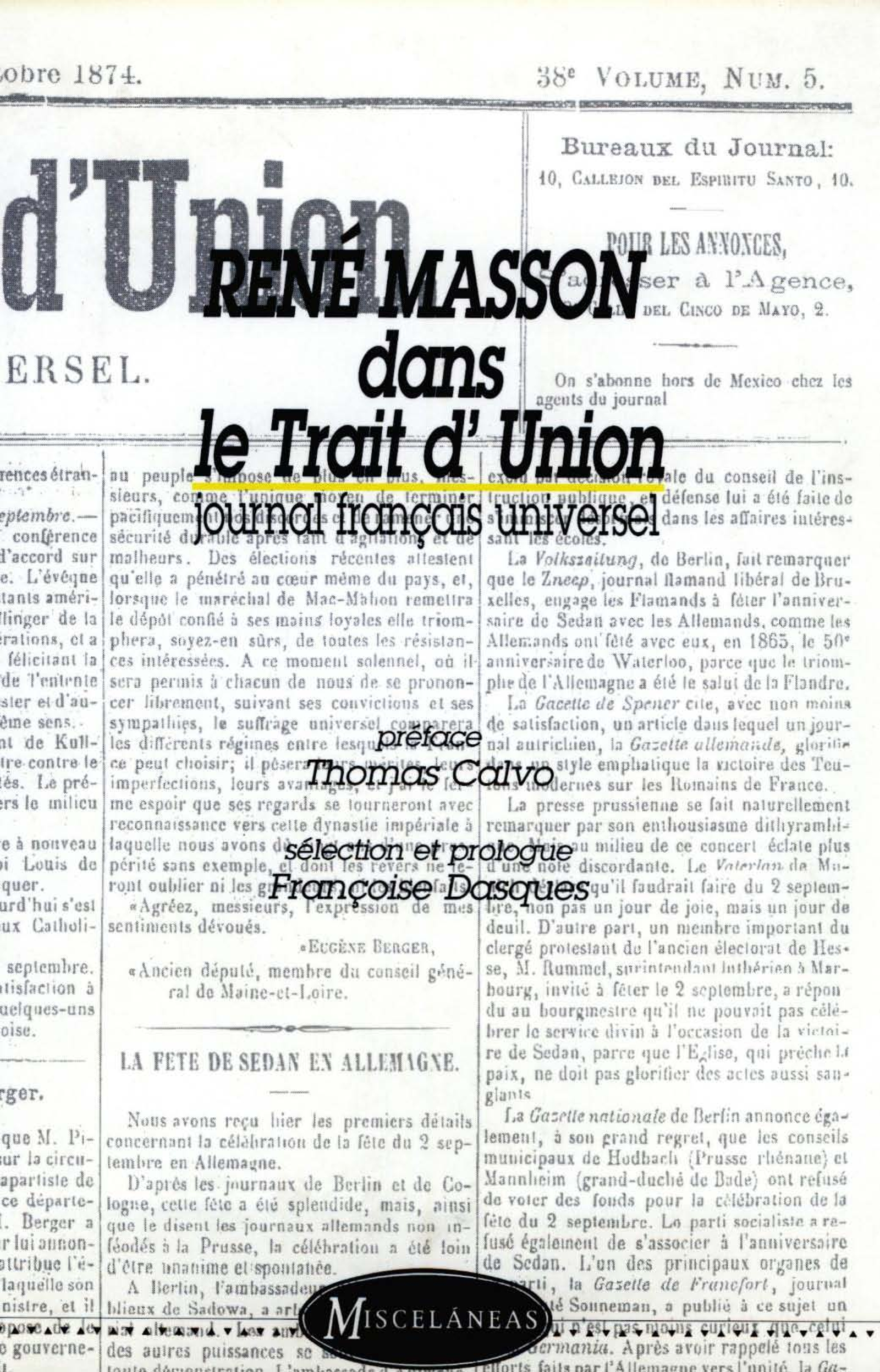 René Masson dans le Trait d'Union