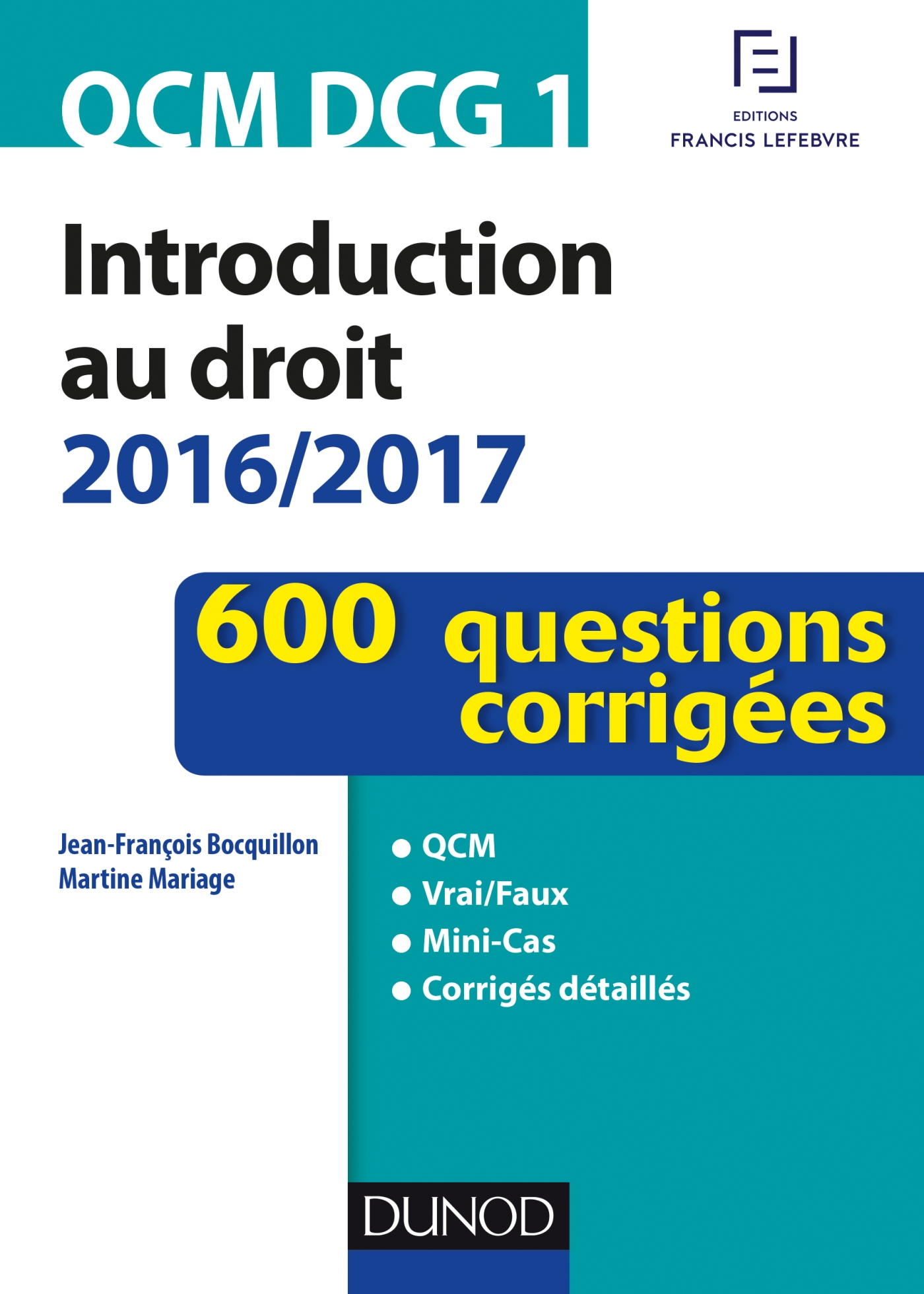 QCM DCG 1 - Introduction au droit 2016/2017 - 4e éd.