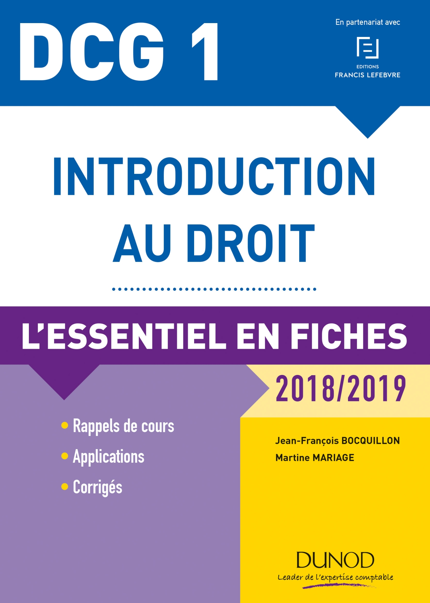 DCG 1 - Introduction au droit - 2018/2019 - 9e éd.