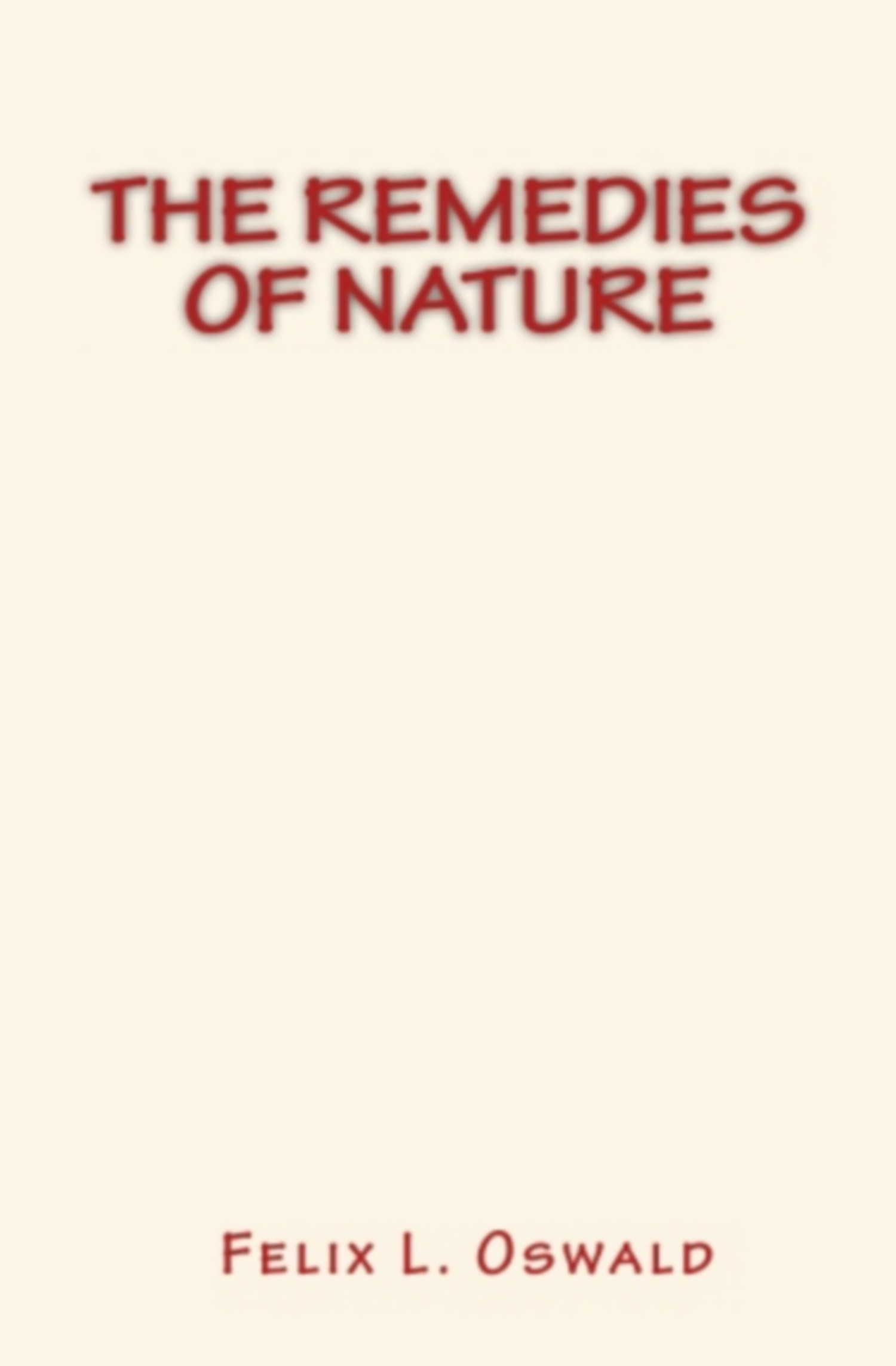 The Remedies of Nature