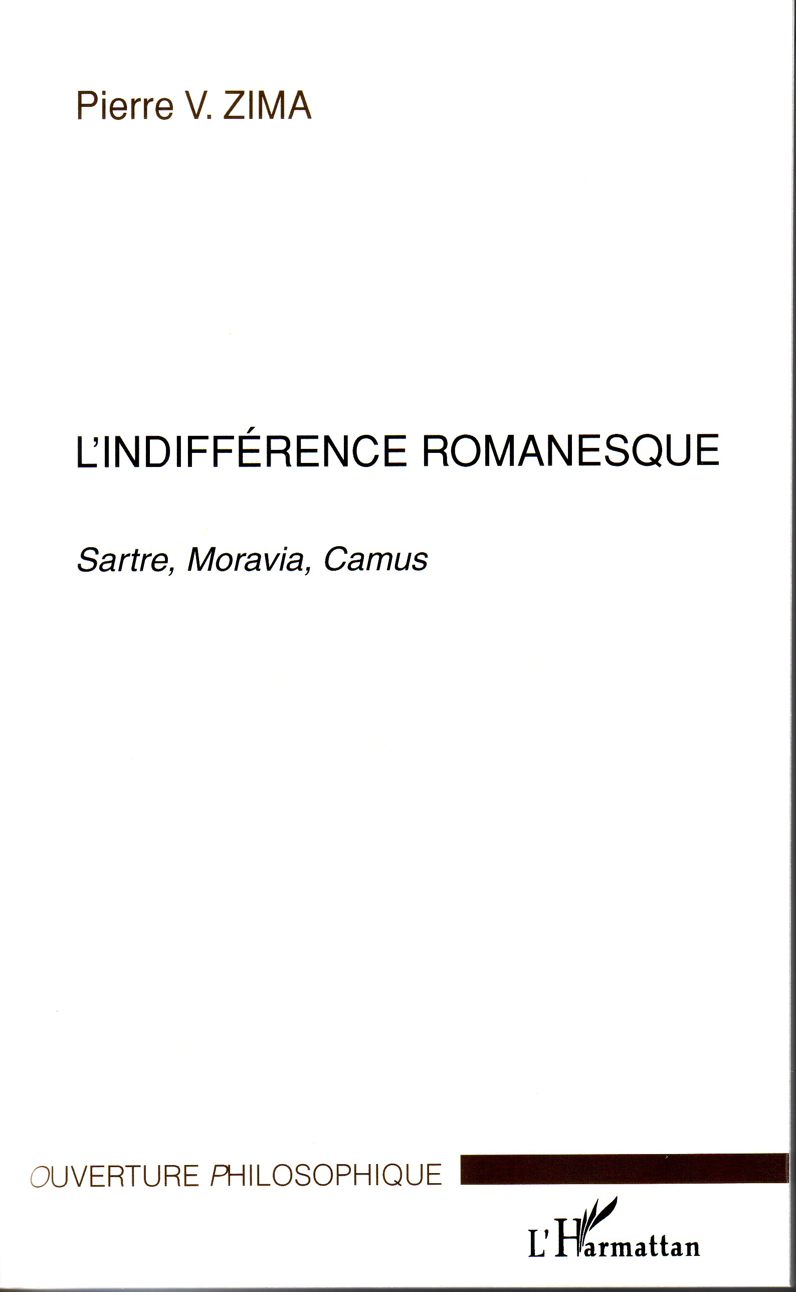 L'indifférence romanesque