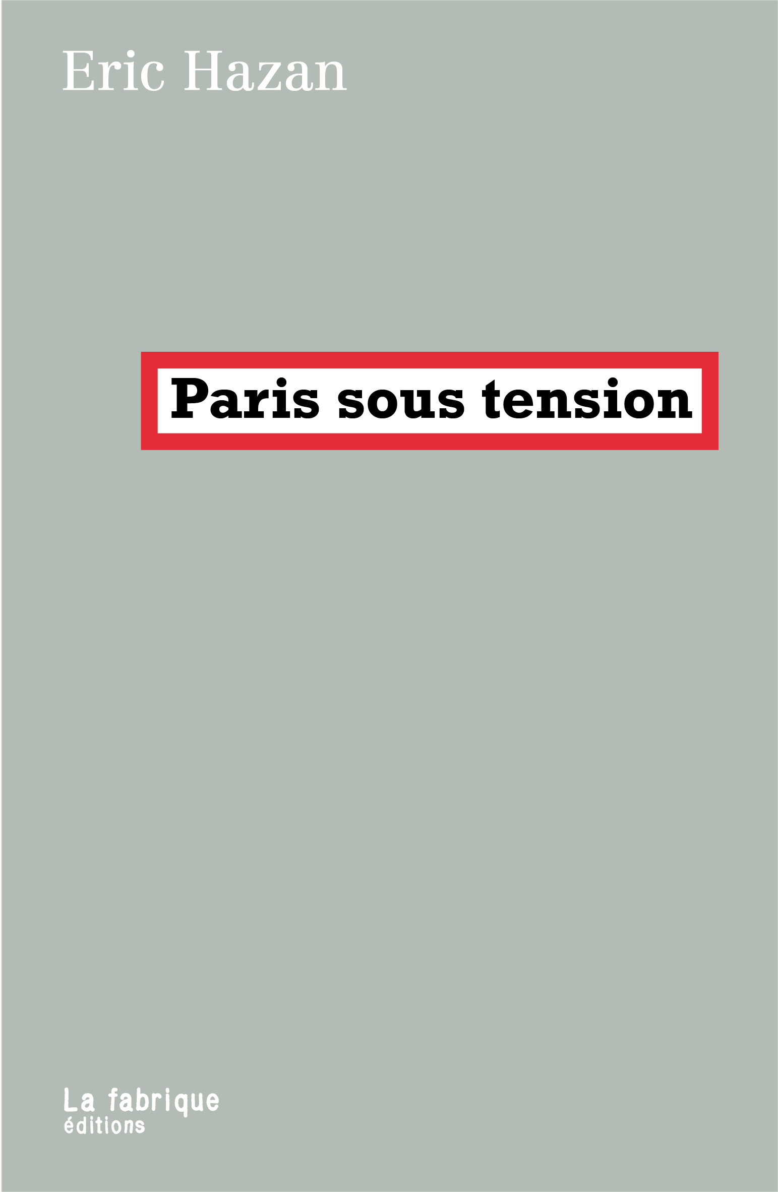 Paris sous tension