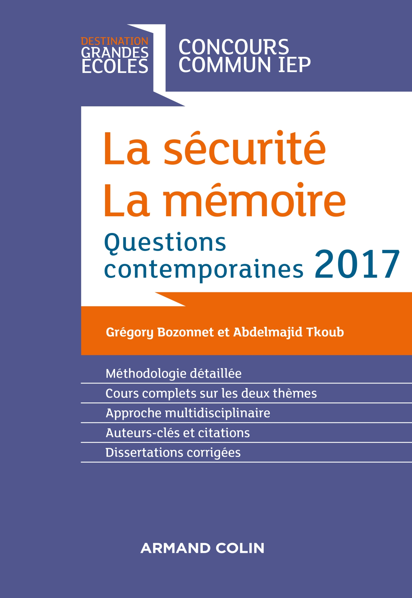 La sécurité. La mémoire. Question contemporaine 2017