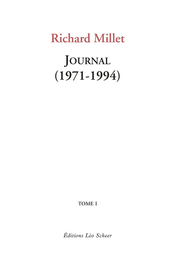 Journal (1971-1994) Tome1