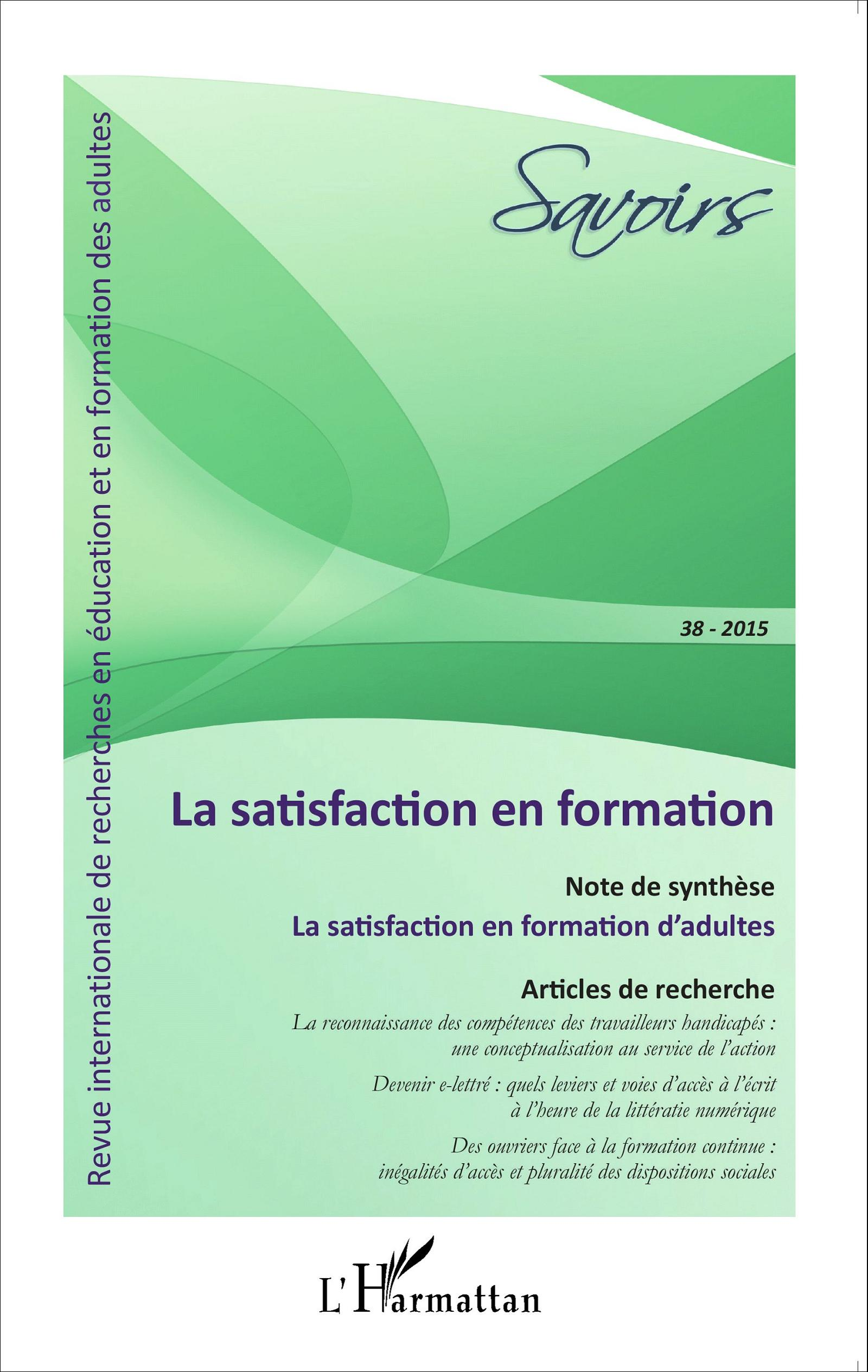 La satisfaction en formation