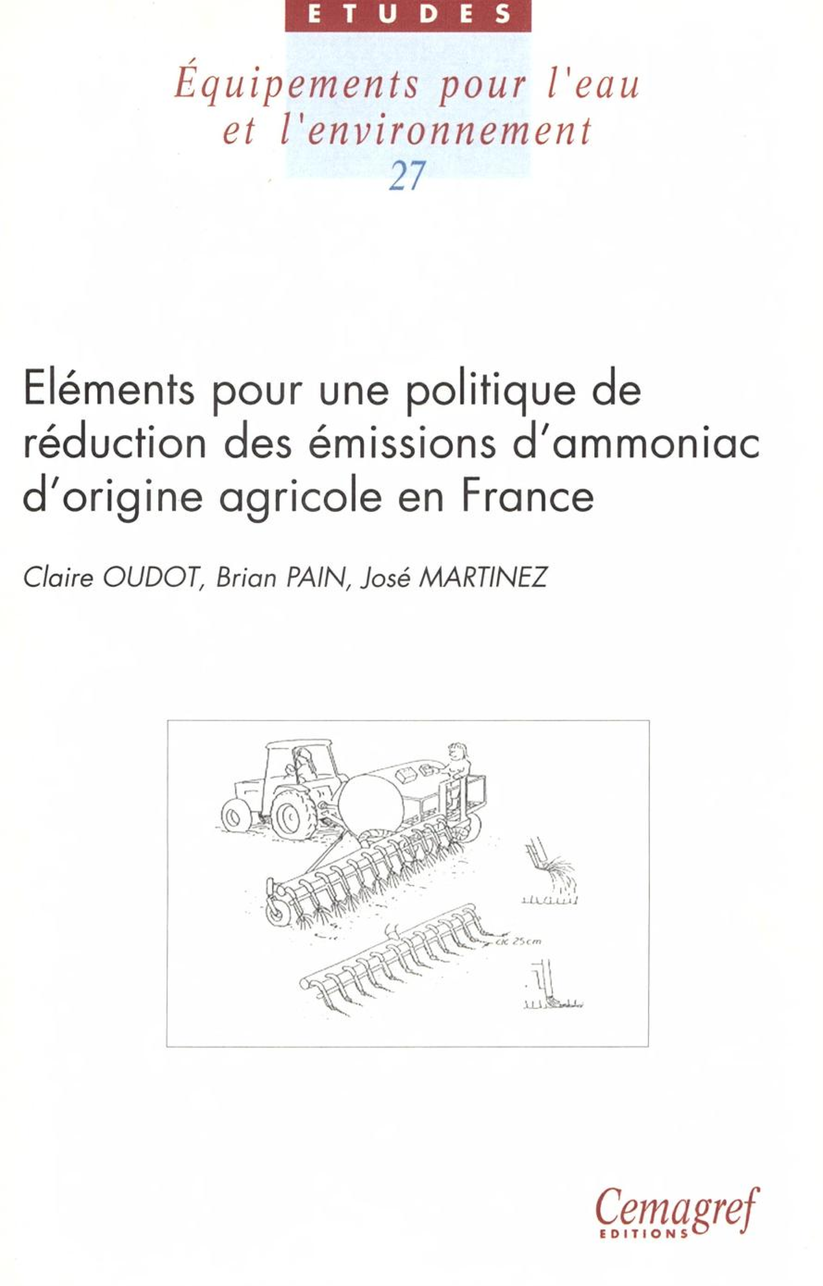 Éléments pour une politique de réduction des émissions d'ammoniac d'origine agricole en France. Considerations for a Policy to Reduce Ammonia Emissions from Agriculture in France
