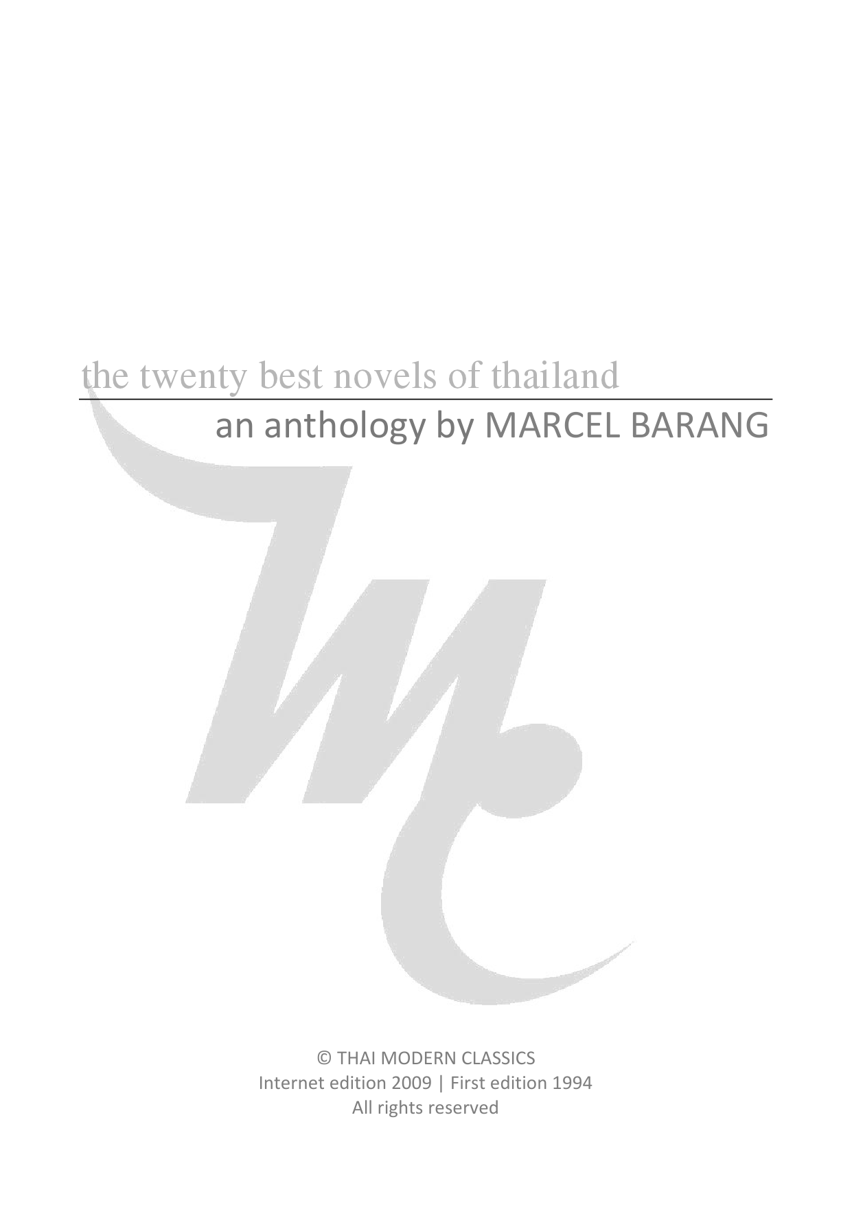 The 20 best novels of thailand