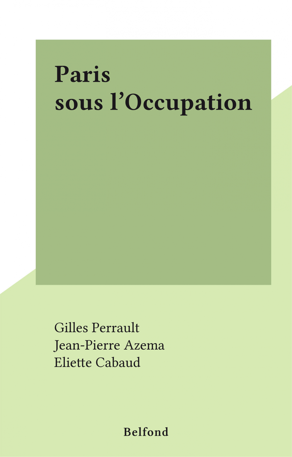Paris sous l'Occupation