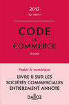 Code de commerce 2017, annoté
