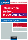 Introduction au droit en QCM 2016-2017 - 4e éd.
