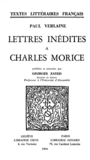 Lettres inédites à Charles Morice