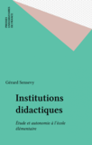 Institutions didactiques