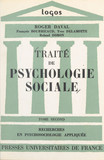 Traité de psychologie sociale (2)