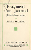 Fragment d'un journal, août-septembre 1930