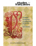 Volume 38, numéro 3, 2002 - Le simple, le multiple : la disposition du recueil à la Renaissance