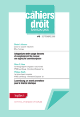 Cahier du droit luxembourgeois n°5
