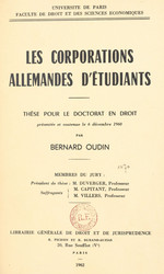 Les corporations allemandes d'étudiants