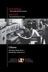 Journal of the Canadian Historical Association. Vol. 26 No. 1,  2015