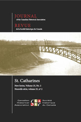 Journal of the Canadian Historical Association. Vol. 25 No. 2,  2014