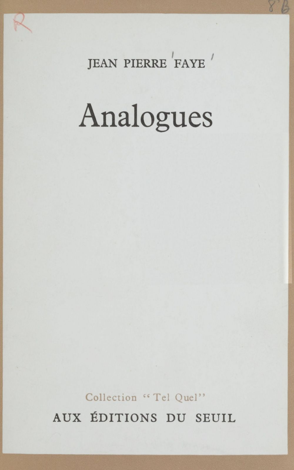 Analogues