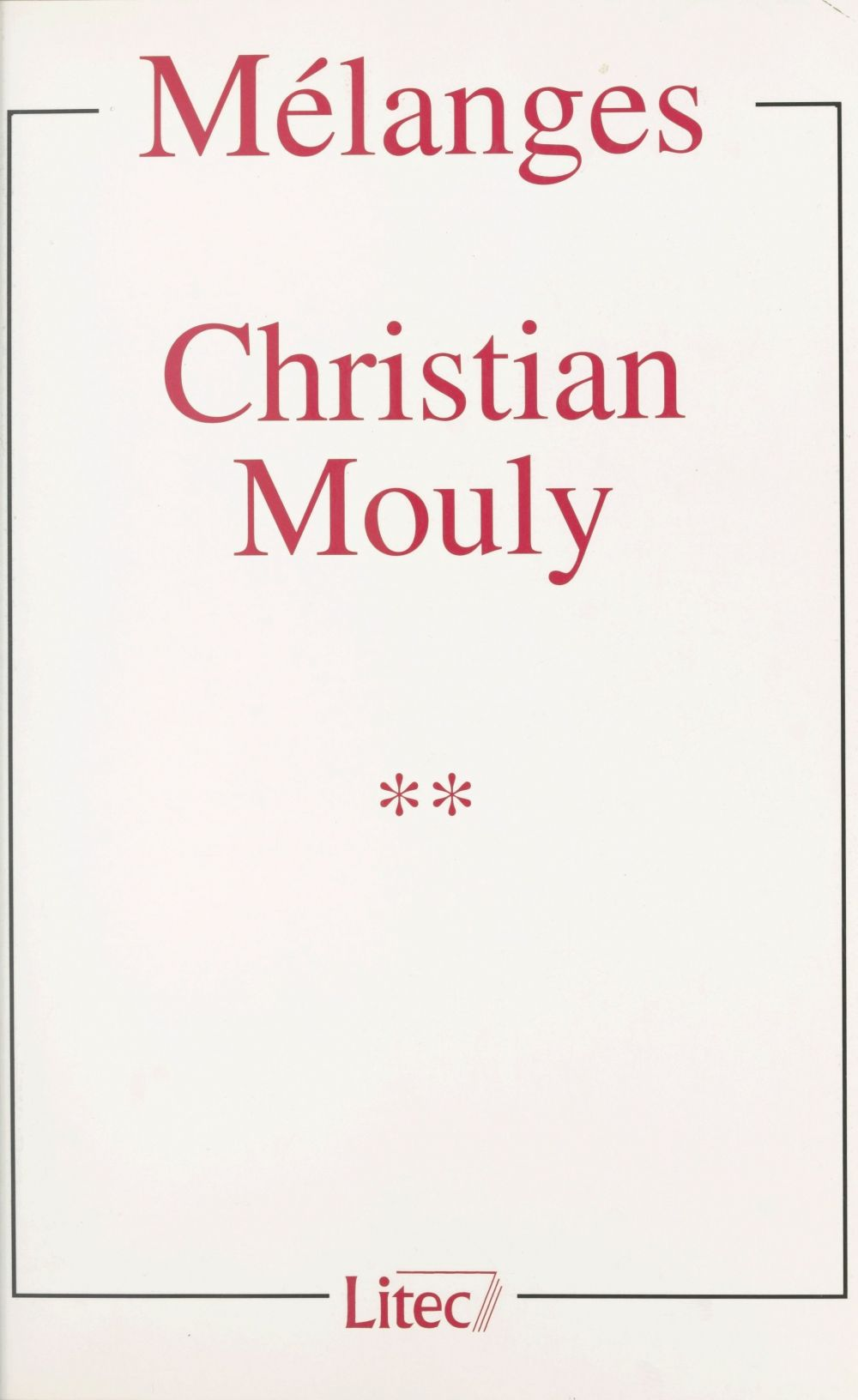Mélanges Christian Mouly (2)