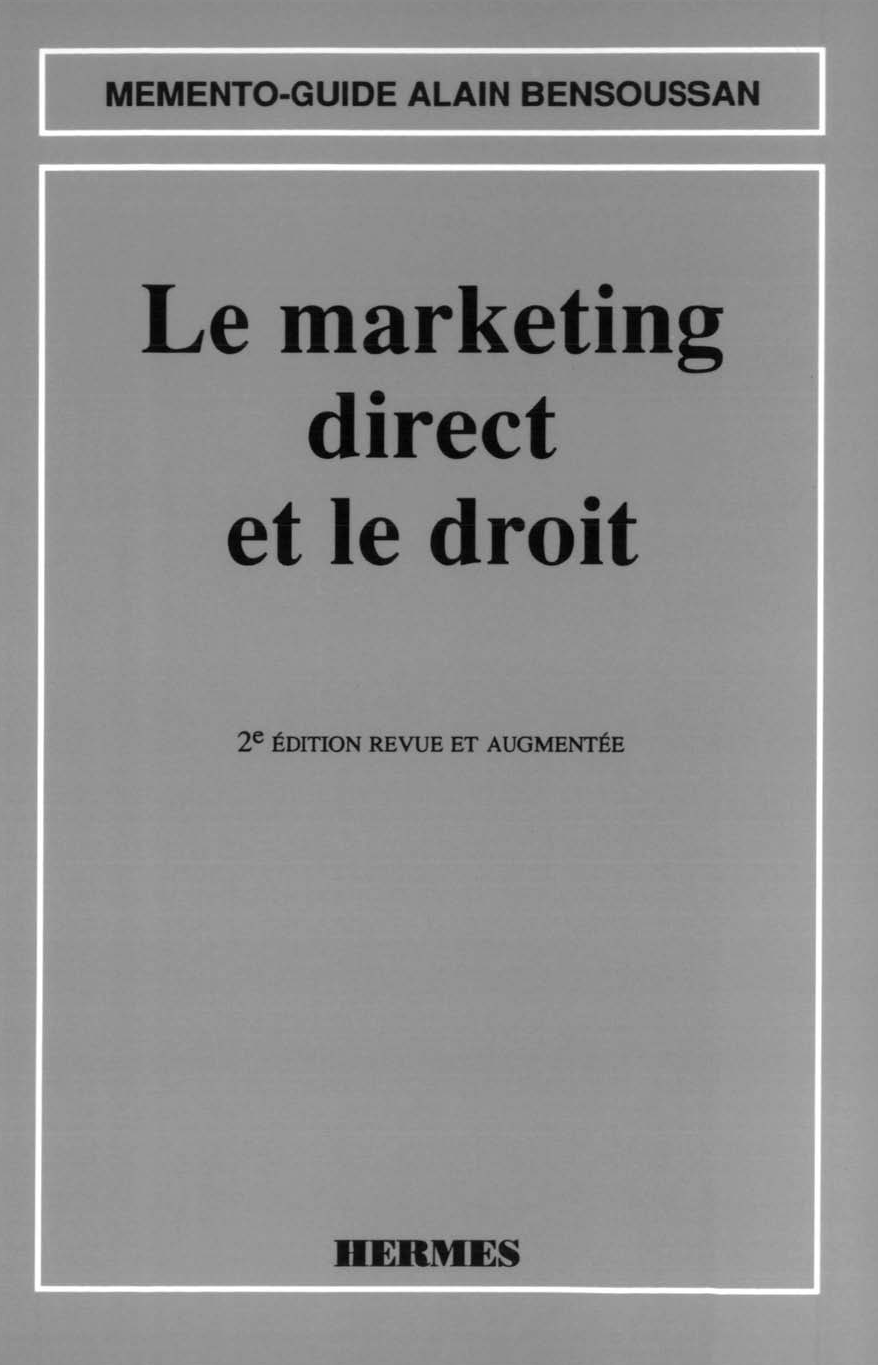 Le marketing direct et le droit