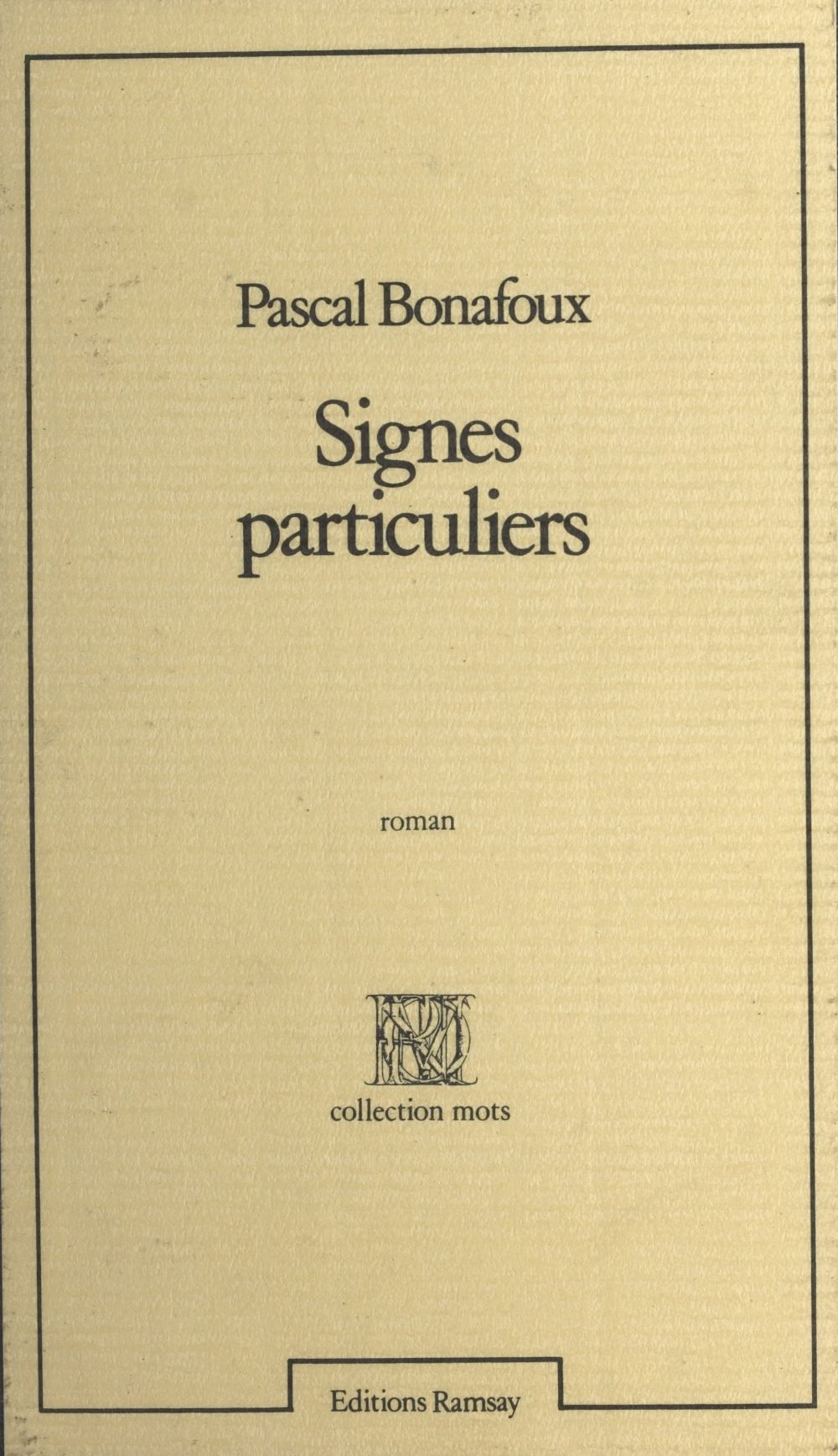 Signes particuliers