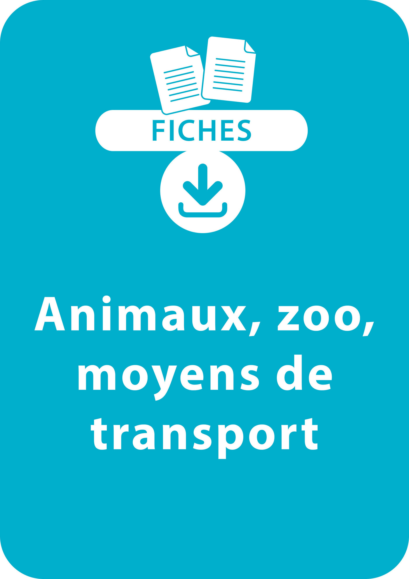 Lecture CP - Animaux, zoo, moyens de transport