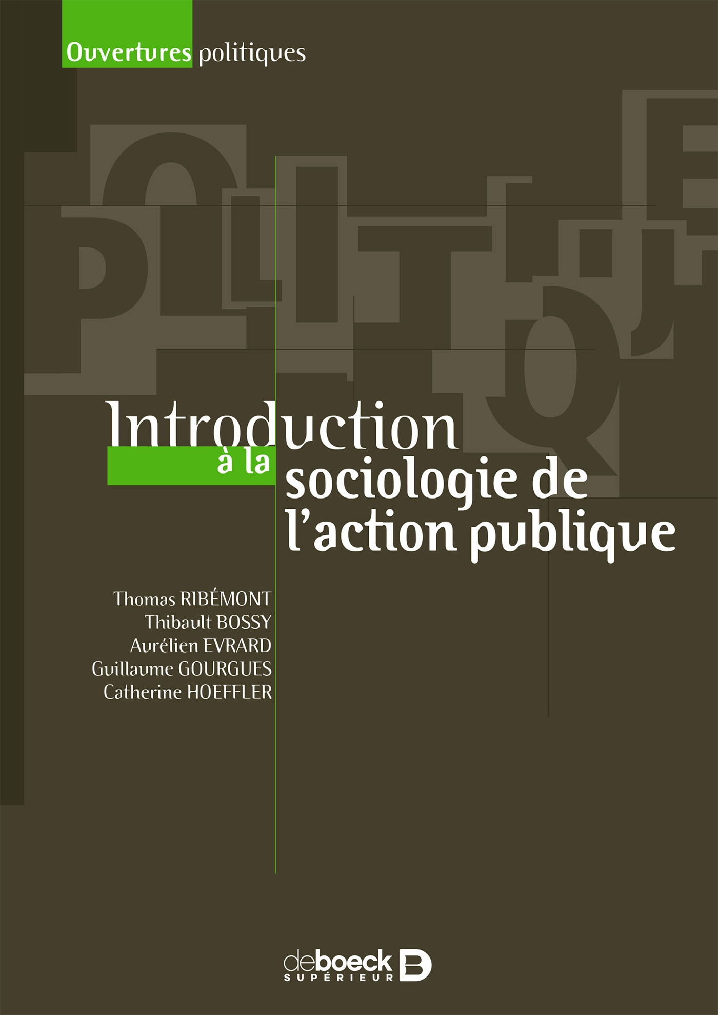Introduction à la sociologie de l'action publique