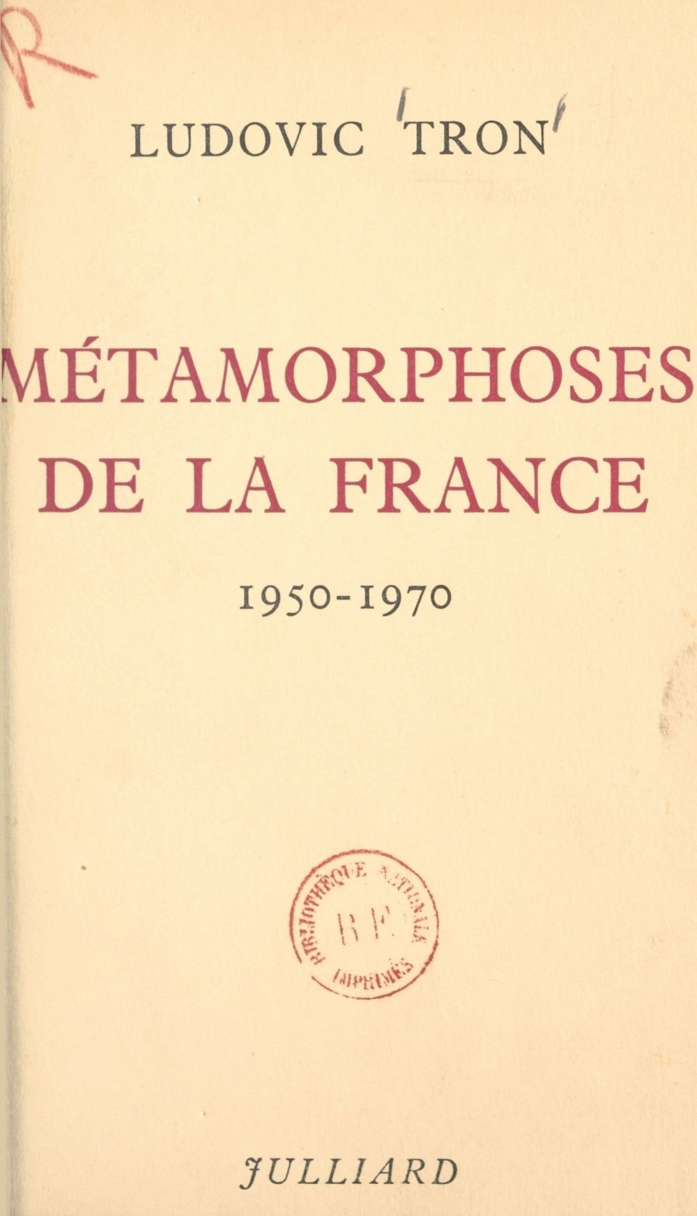 Métamorphoses de la France