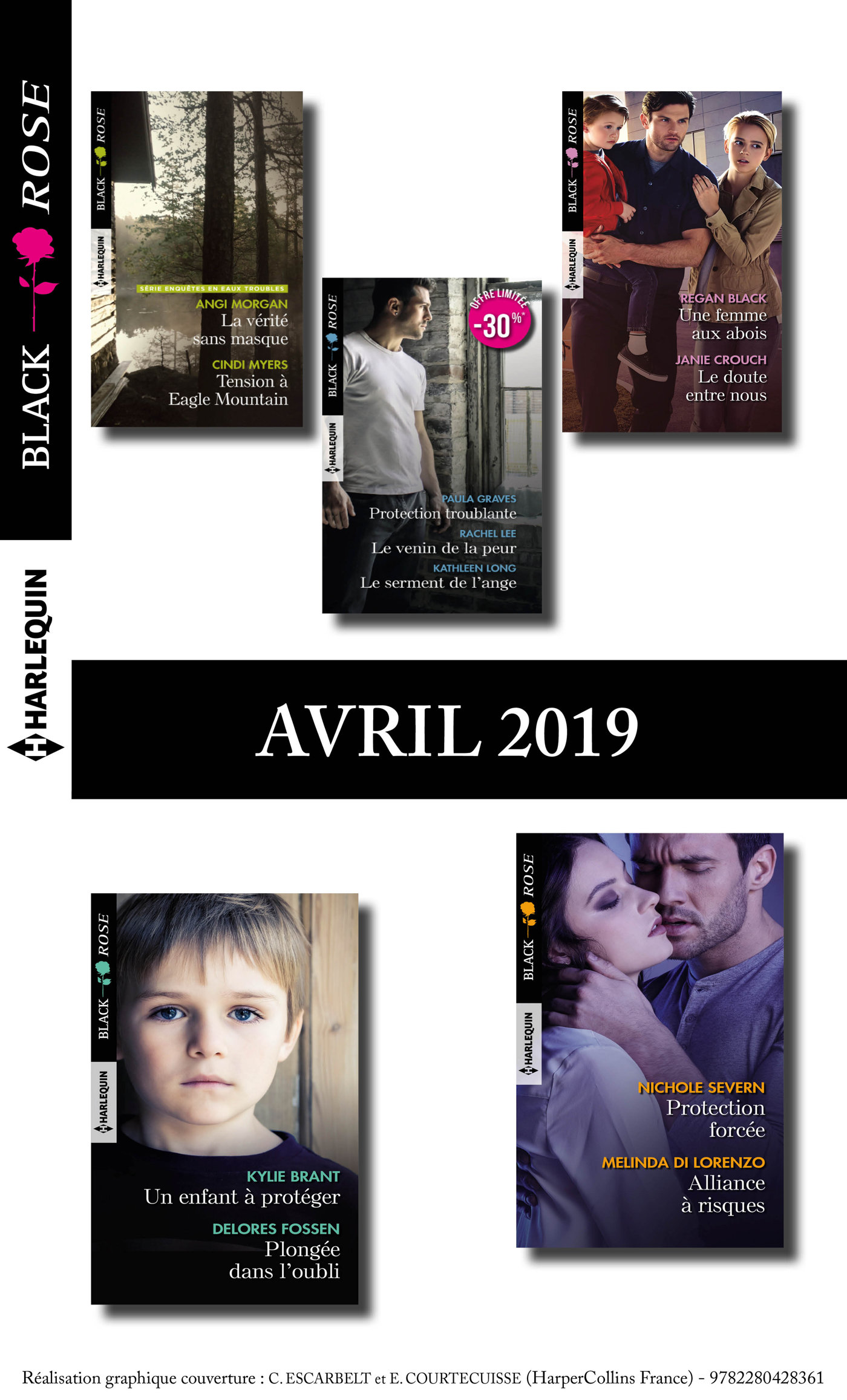 11 romans Black Rose (n°525 à 531 - Avril 2019)