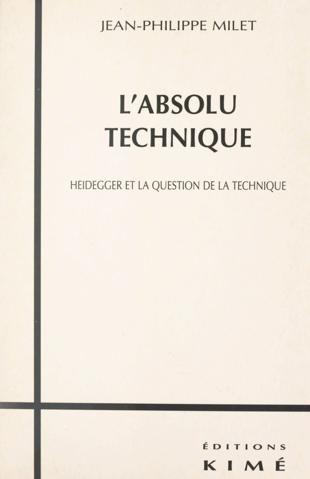 L'absolu technique