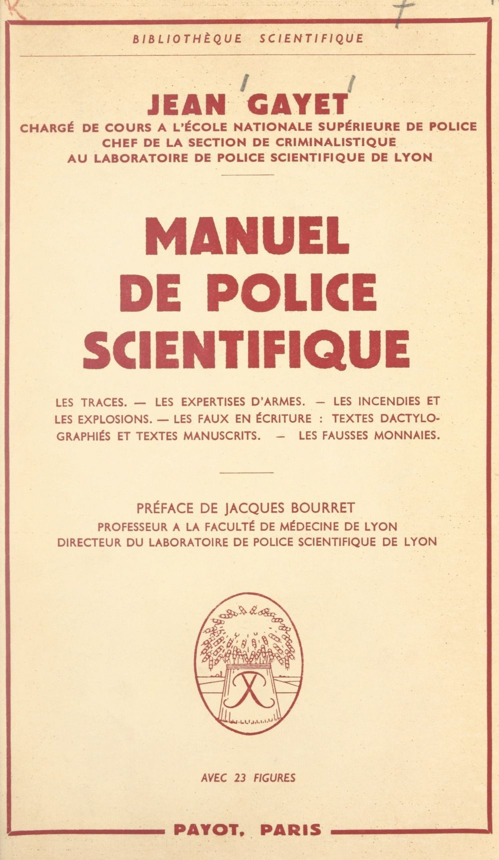 Manuel de police scientifique