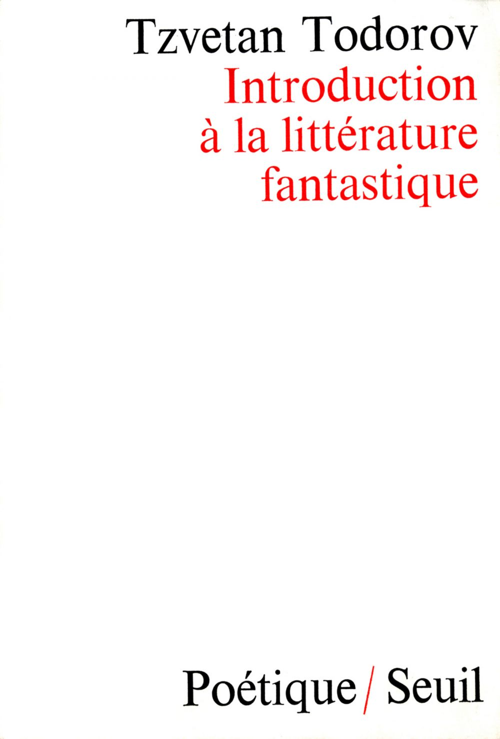 Introduction à la littérature fantastique