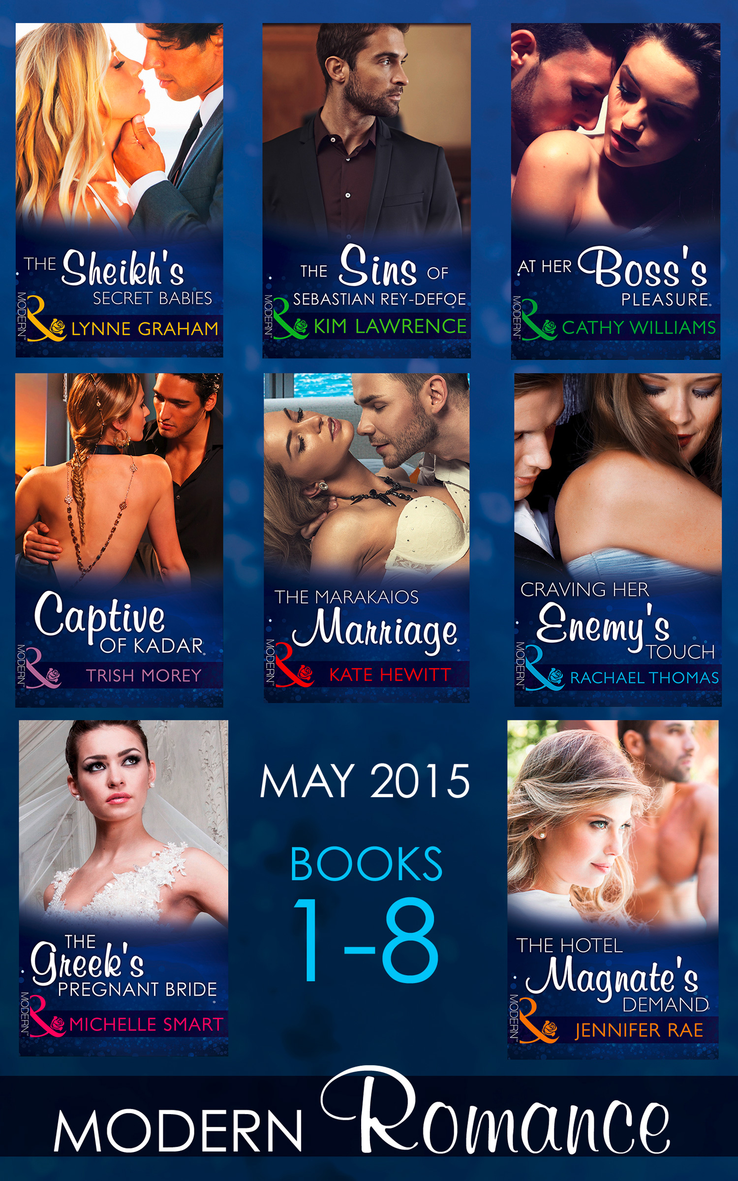 Modern Romance May 2015 Books 1-8