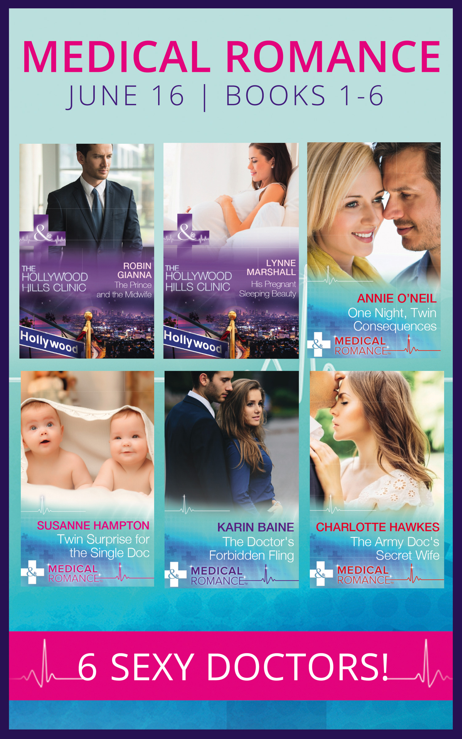 Medical Romance June 2016 Books 1-6
