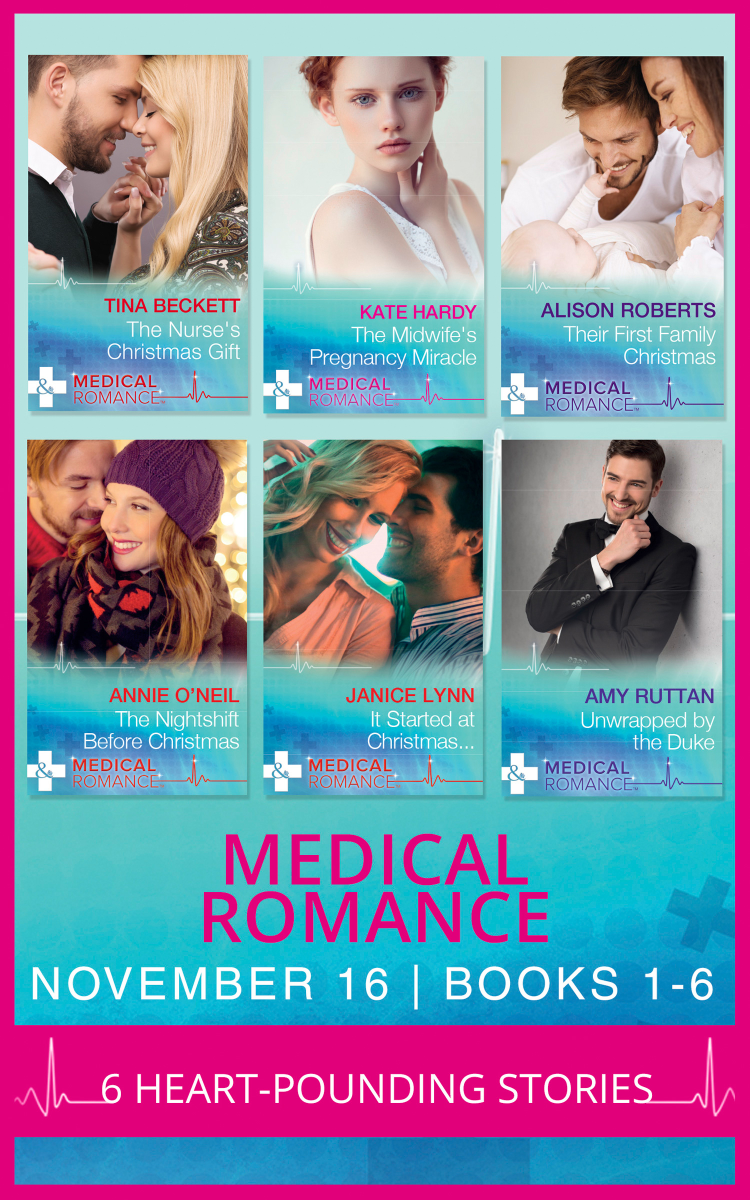 Medical Romance November 2016 Books 1-6