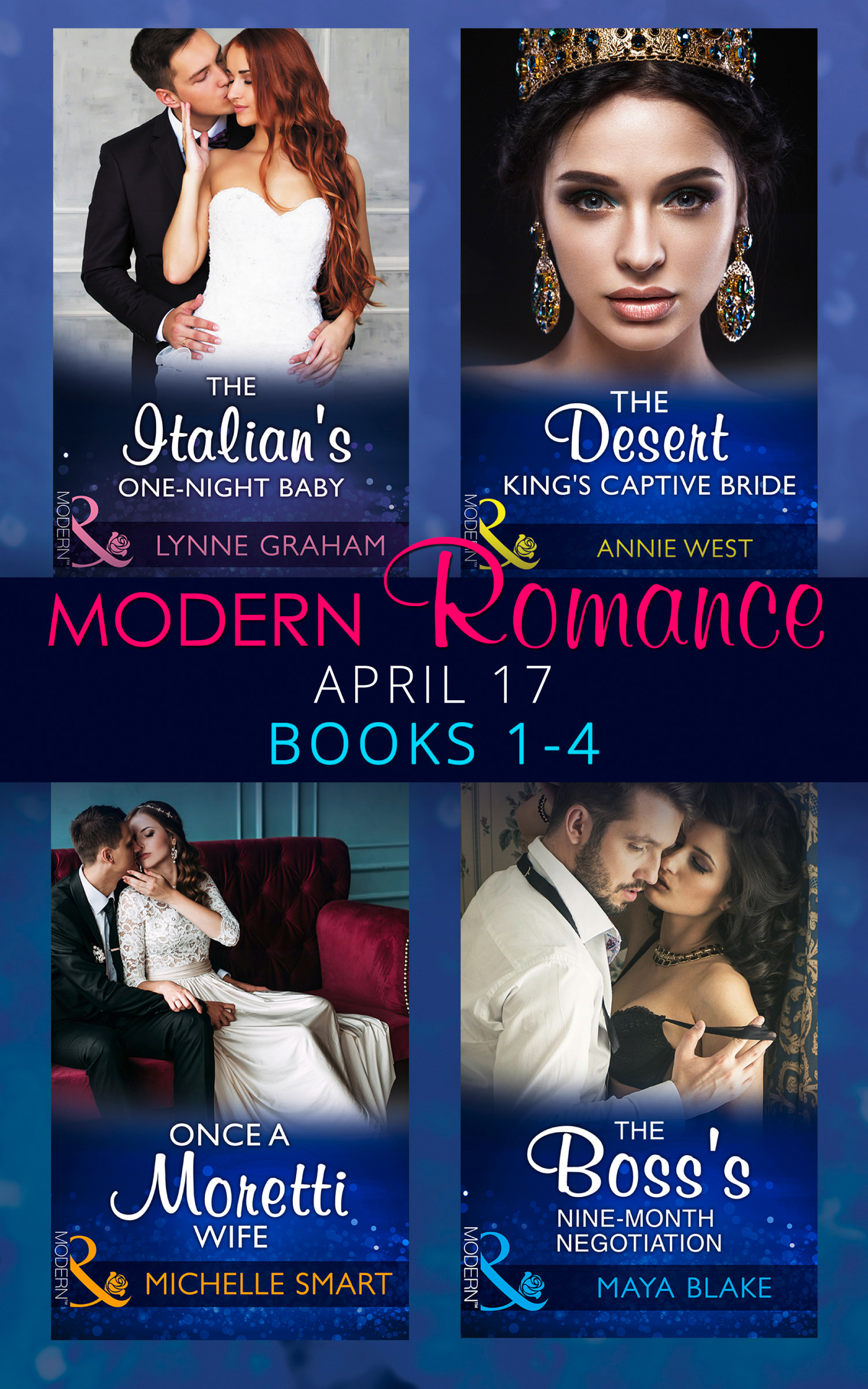 Modern Romance April 2017 Books 1-4