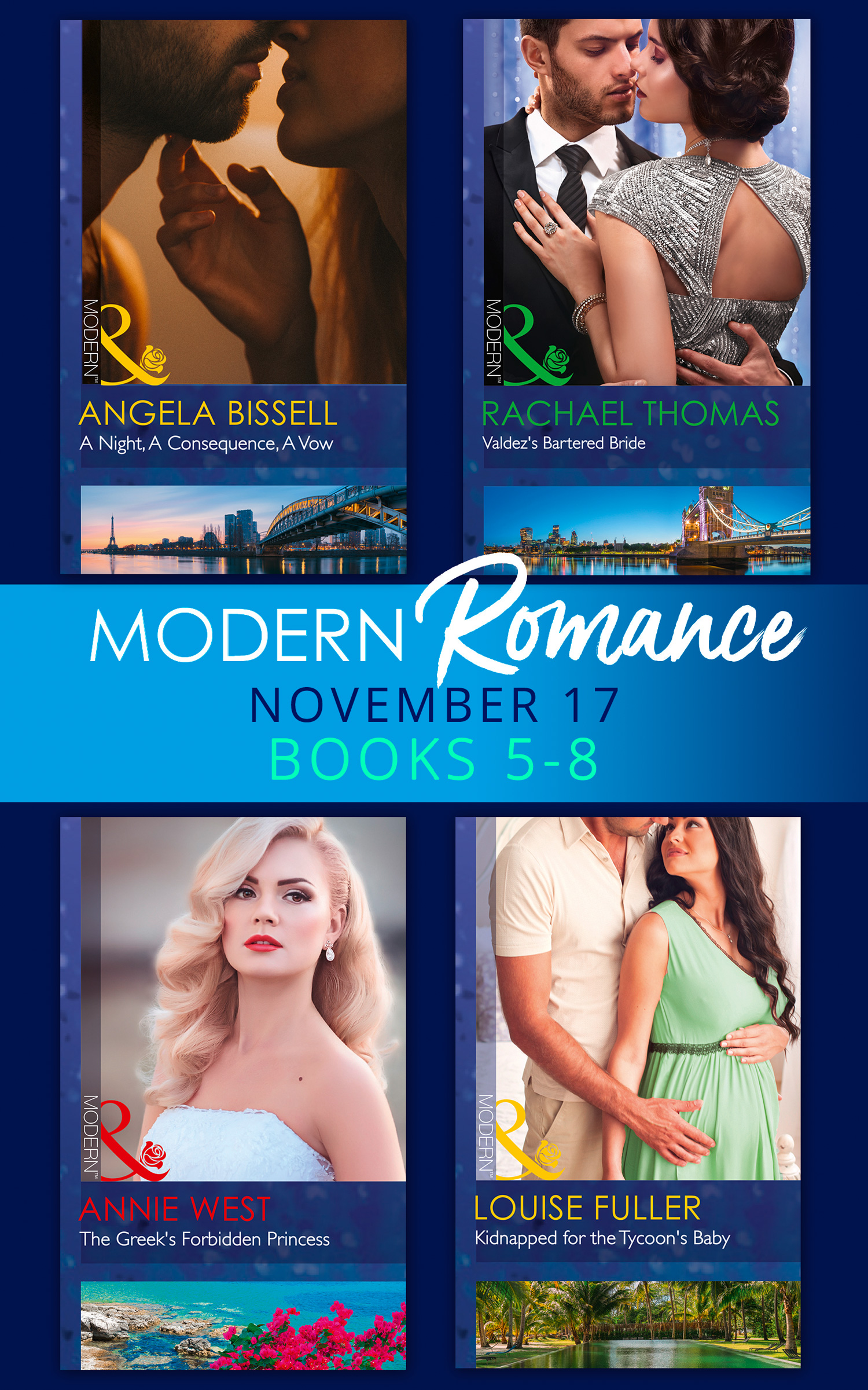 Modern Romance Collection: November 2017 Books 5 - 8