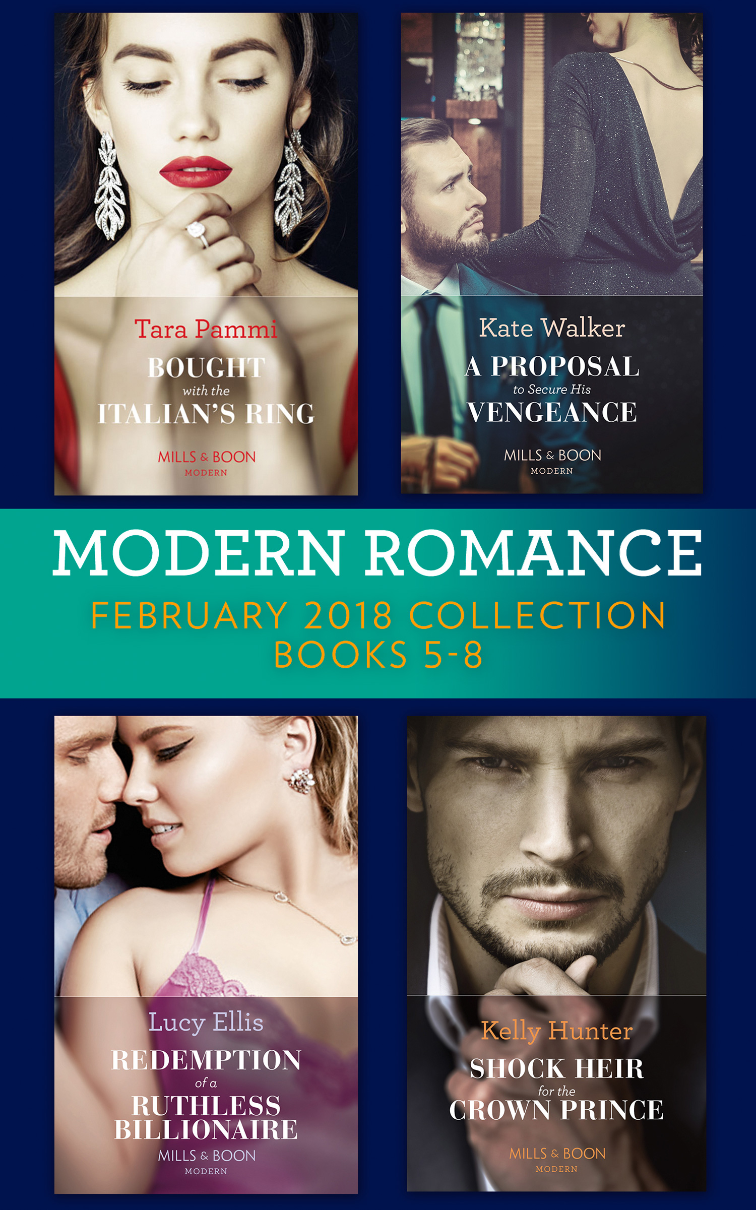 Modern Romance Collection: February 2018 Books 5 - 8