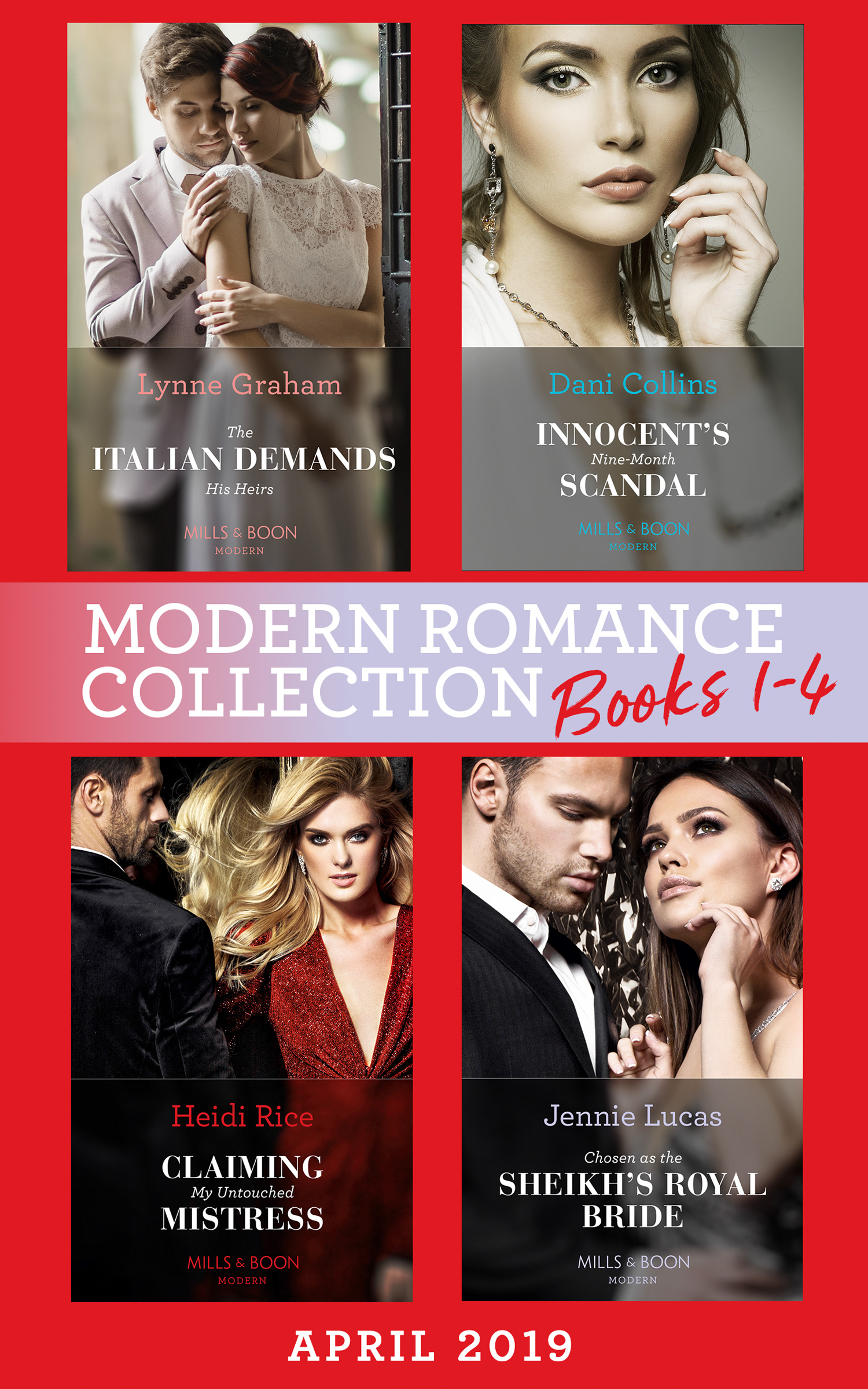Modern Romance April 2019 Books 1-4