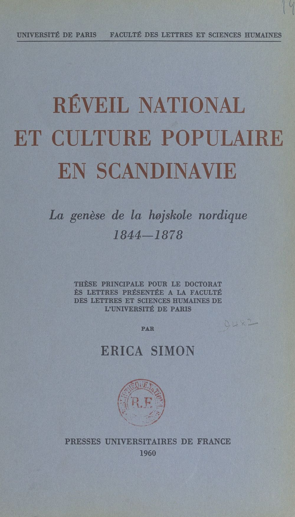 Réveil national et culture populaire en Scandinavie