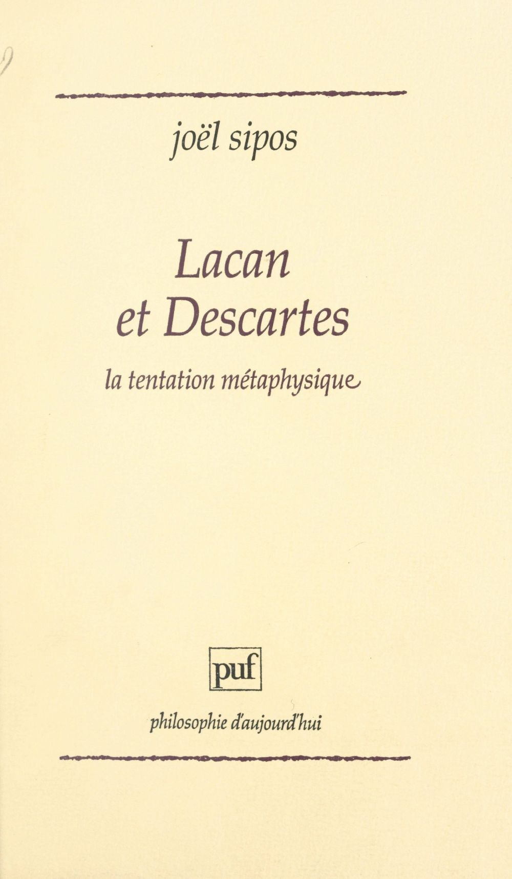 Lacan et Descartes