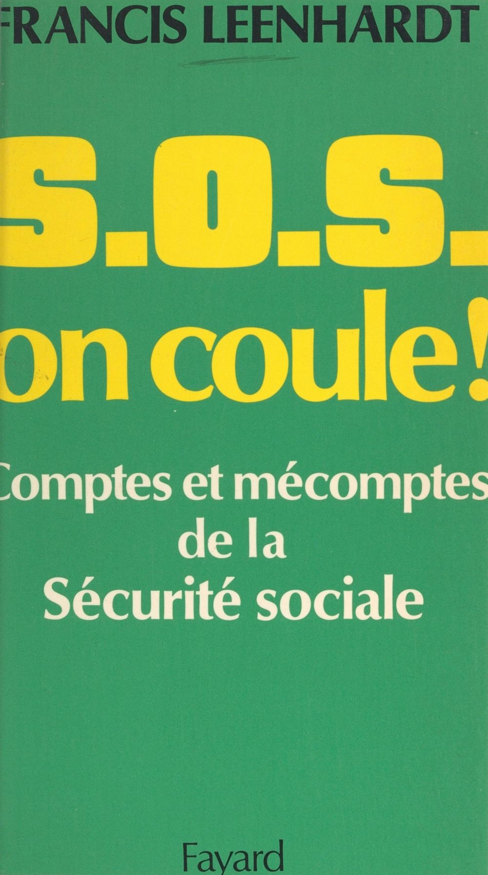 S.O.S. on coule !