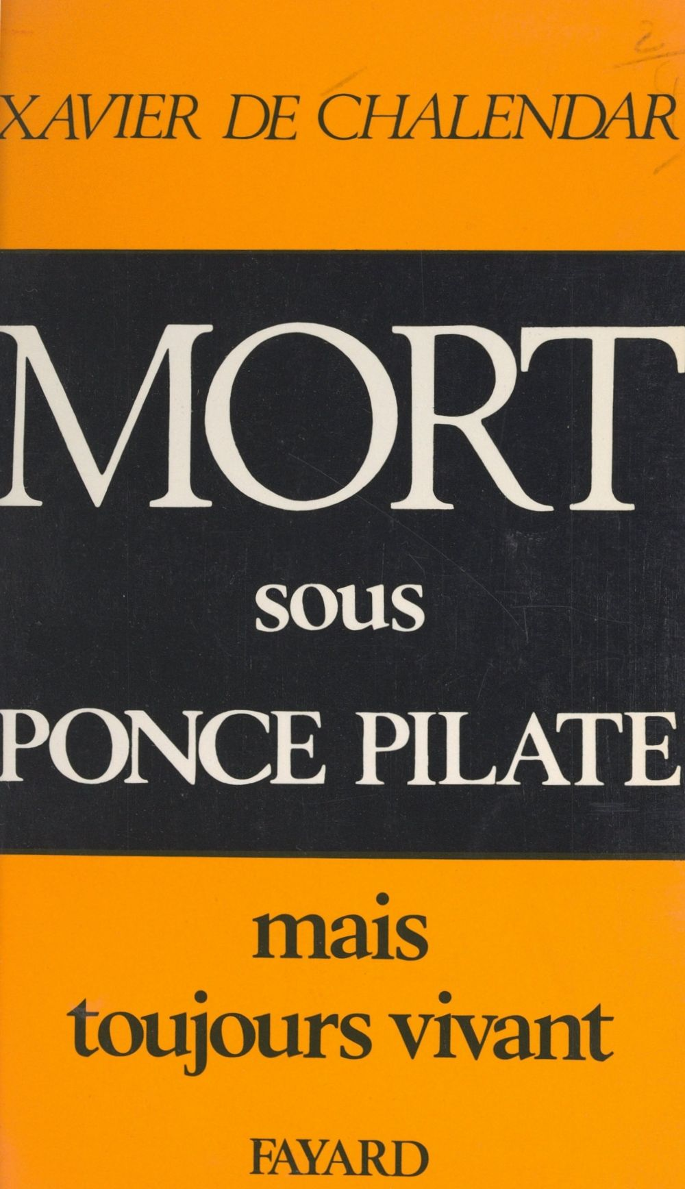 Mort sous Ponce Pilate
